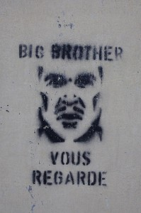 Big Brother graffiti in France