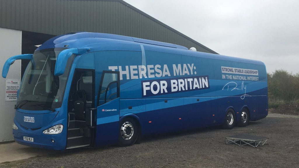 The 'Theresa May' 2017 election campaign bus